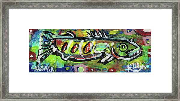 Lil'funky Folk Fish Number Eighteen Framed Print
