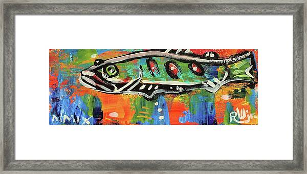 Lil'funky Folk Fish Number Fifteen Framed Print