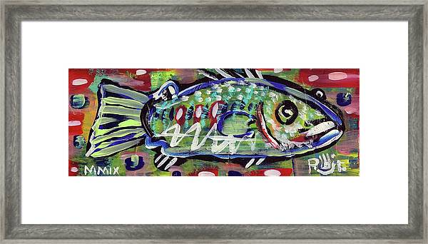 Lil'funky Folk Fish Number Fourteen Framed Print