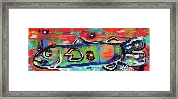 Lil'funky Folk Fish Number Seventeen Framed Print