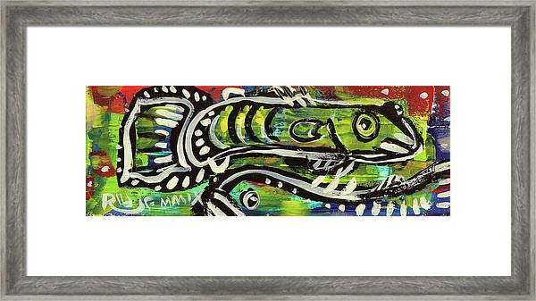 Lil'funky Folk Fish Number Sixteen Framed Print