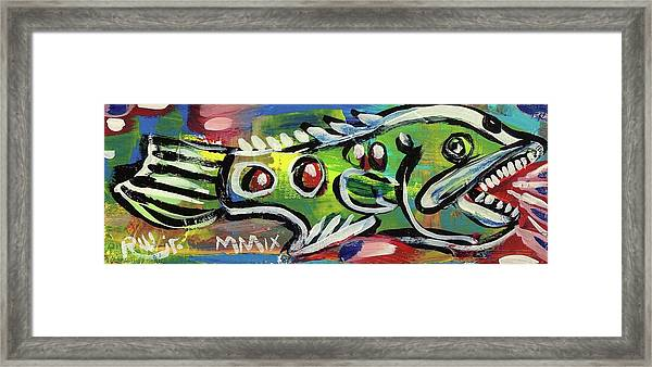 Lil'funky Folk Fish Number Thirteen Framed Print
