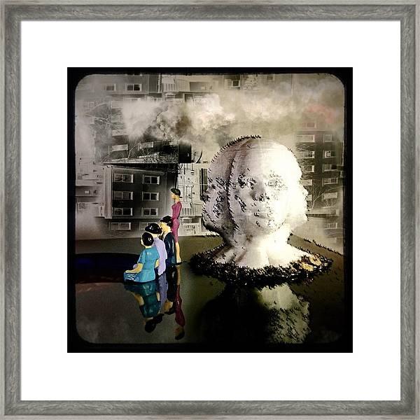 Lilliput In Wasteland Framed Print by Maxim Tzinman