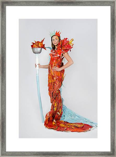 Lily In Fire And Ice Queen Framed Print