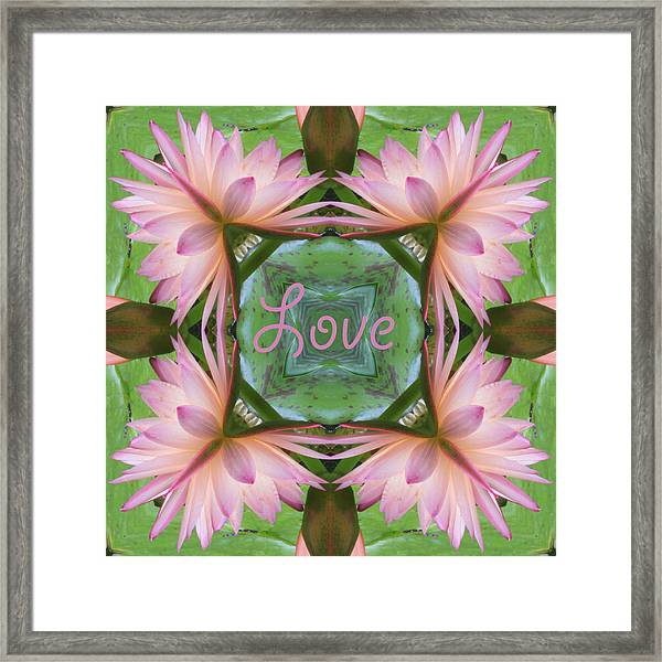 Lily Pad Love Framed Print