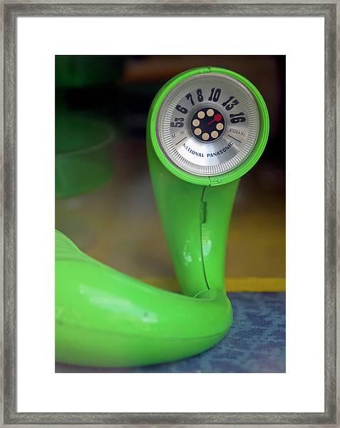 Lime Green Twisted Radio Framed Print