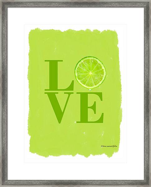 Lime Framed Print