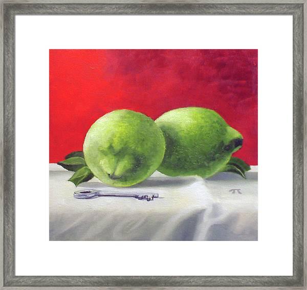 Limes Framed Print