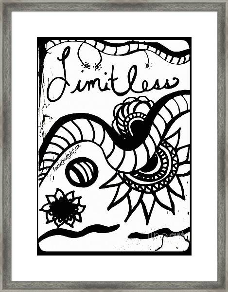 Framed Print featuring the drawing Limitless by Rachel Maynard