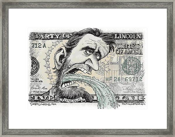 Lincoln Barfs Framed Print