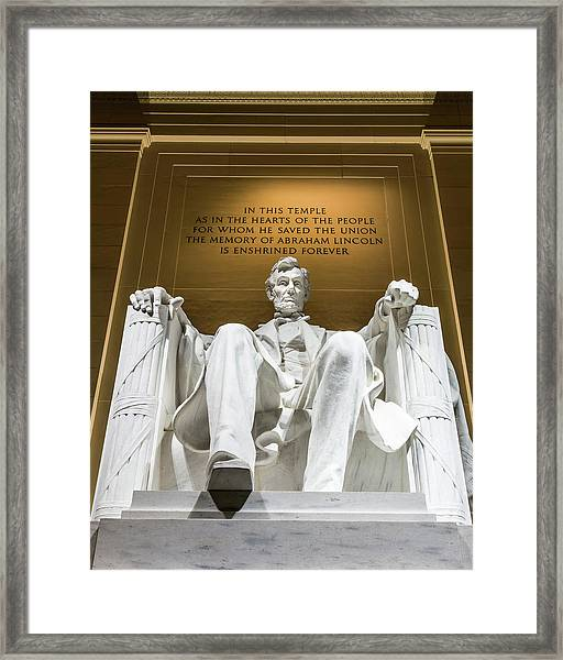 Lincoln Memorial 2 Framed Print