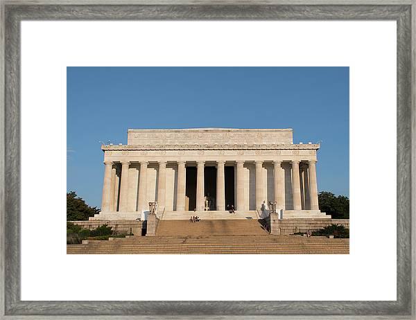 Lincoln's Memorial Framed Print