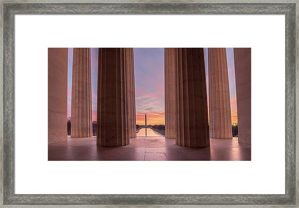 Lincolns View Framed Print by Michael Donahue