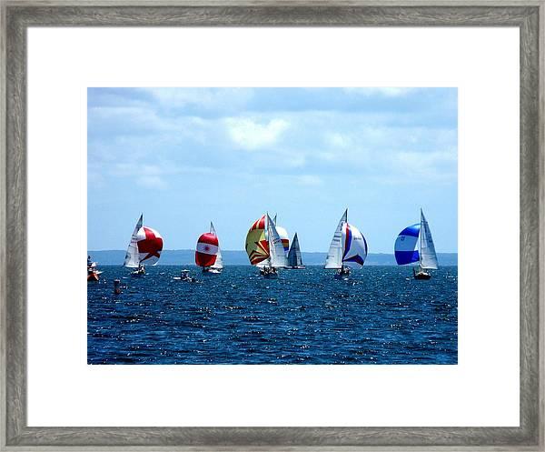 Line Up Framed Print