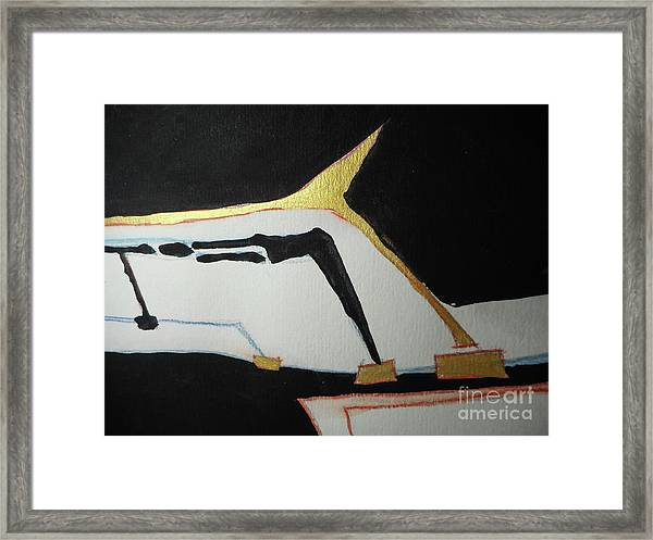 Linear-1 Framed Print