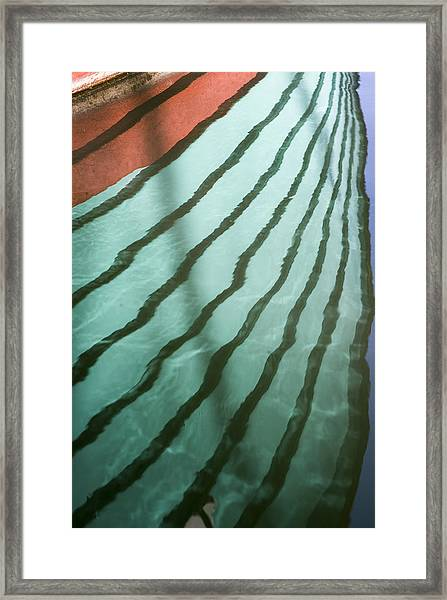 Lines On The Water Framed Print