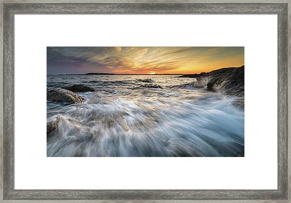 Linked In Framed Print