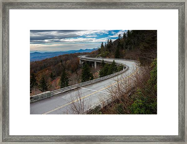 Linn Cove Viaduct Late Fall Framed Print