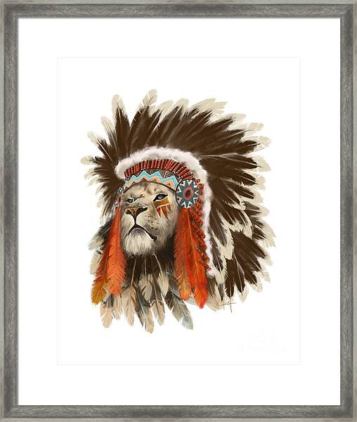 Lion Chief Framed Print