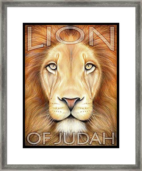 Lion Of Judah Framed Print