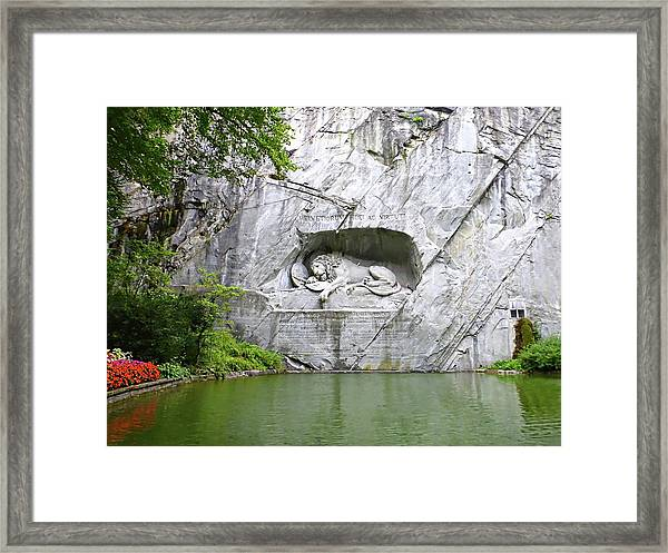 Lion Of Lucerne Framed Print