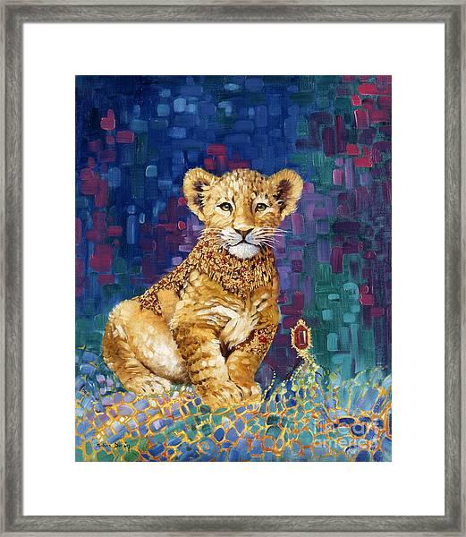 Lion Prince Framed Print by Silvia  Duran