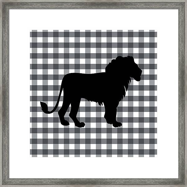 Lion Silhouette Framed Print