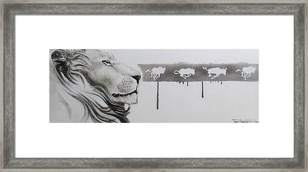 Lion Tears Framed Print