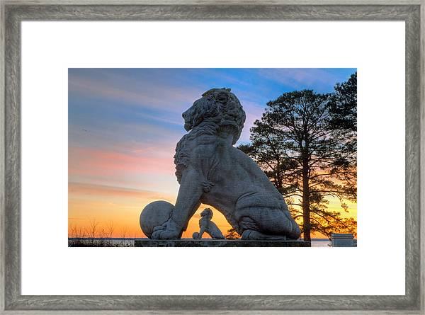 Lions Bridge At Sunset Framed Print
