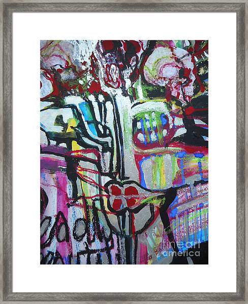 Lips Made Of Steel Framed Print