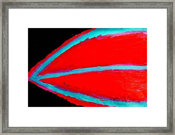 Boat Lips Framed Print
