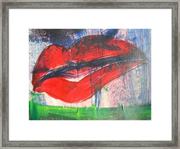 Lipstick - Sold Framed Print