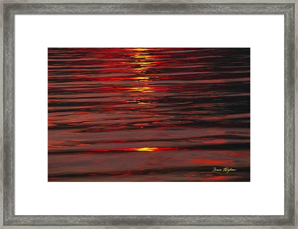Liquid Sunset - Lake Geneva Wisconsin Framed Print