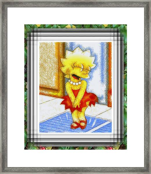 Lisa Does The Monroe Framed Print