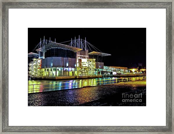 Lisbon - Portugal - Oceanarium At Night Framed Print