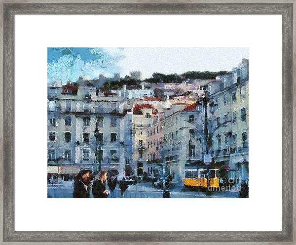 Lisbon Street Framed Print