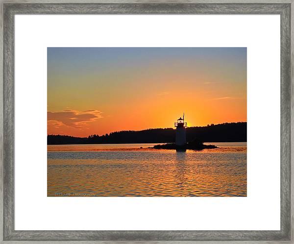 Lit By The Sun Framed Print