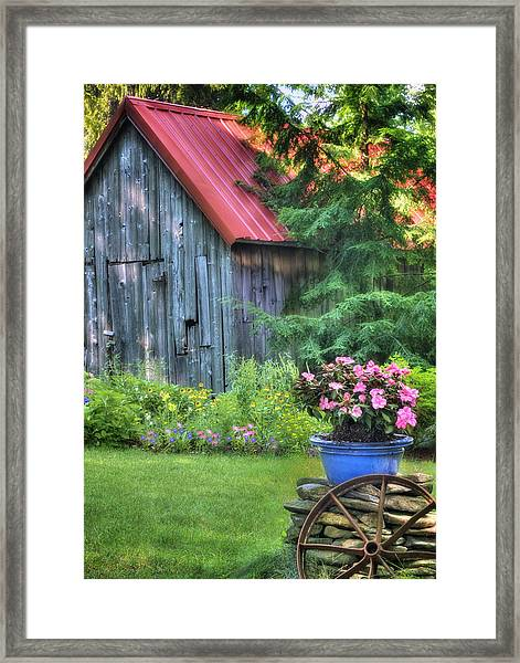 The Country Cottage Garden  Framed Print
