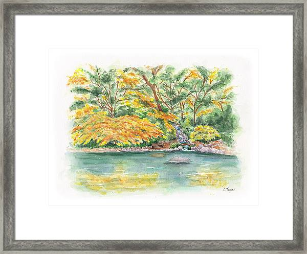 Lithia Park Reflections Framed Print