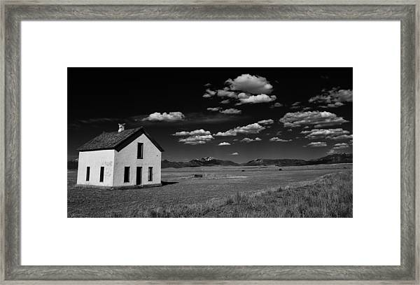 Little Abandoned House On The Prairie Framed Print