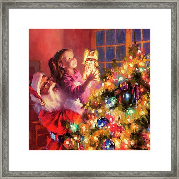 Little Angel Bright Framed Print