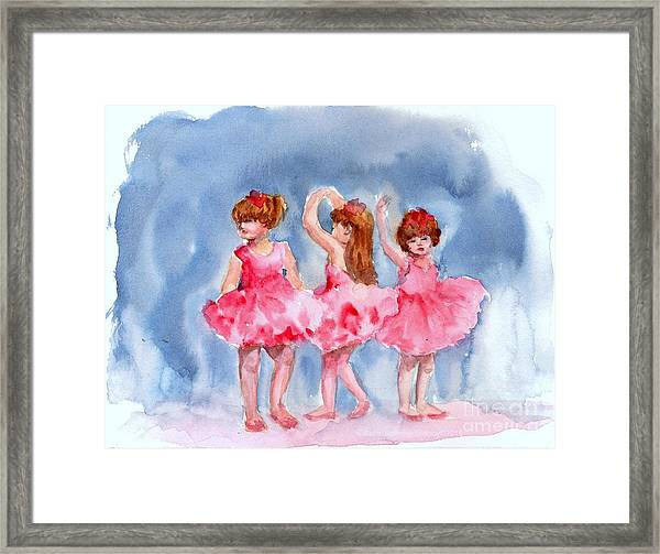 Little Ballerinas Framed Print
