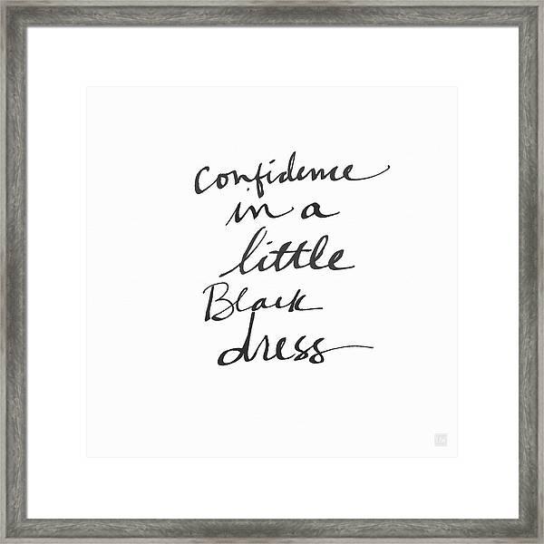 Little Black Dress - Art By Linda Woods Framed Print