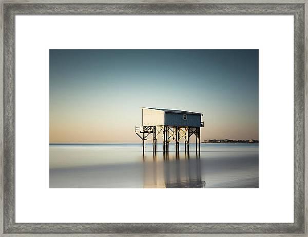 Little Blue Sunrise Framed Print