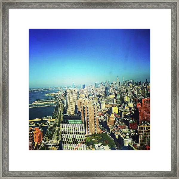 Little Boxes 🏢🌇on A Hillside Framed Print by Gina Callaghan