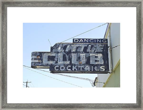 Little Club Cocktails Framed Print