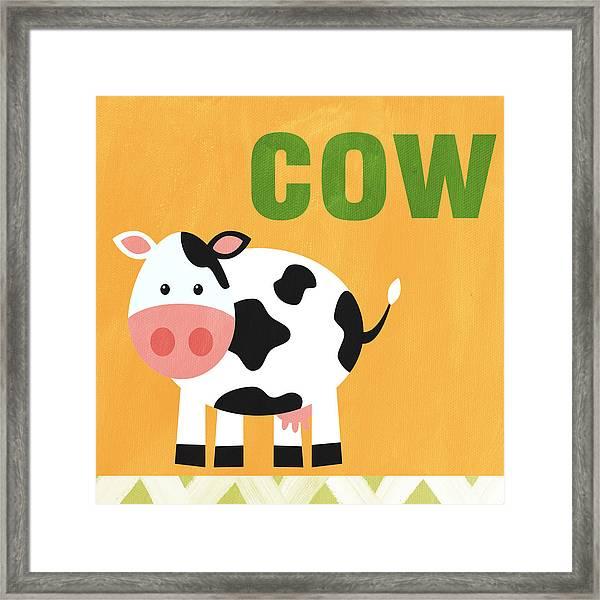 Little Cow Framed Print
