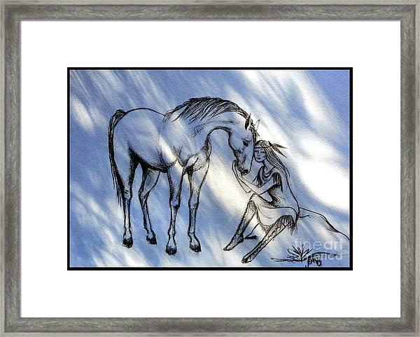 Little Deer And Wind Spirit Framed Print