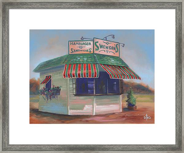 Little Drive-in On South Hawkins Ave Framed Print