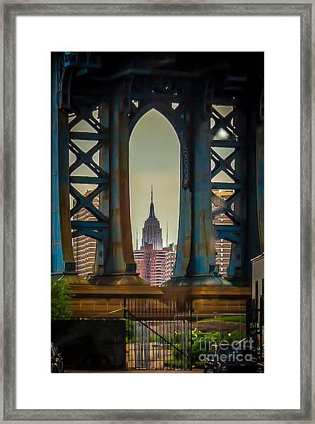 Little Empire State Building Framed Print